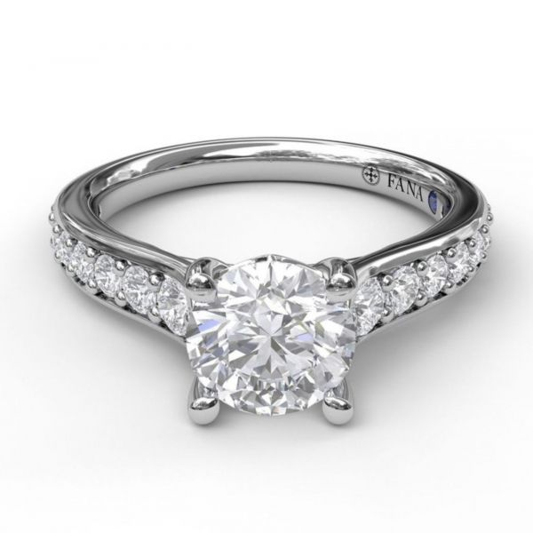 Classic Single Row Diamond Engagement Ring Image 3 Parris Jewelers Hattiesburg, MS