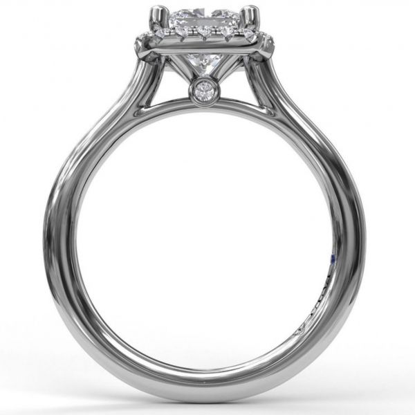 Cushion Cut Halo Engagement Ring Image 2 Parris Jewelers Hattiesburg, MS