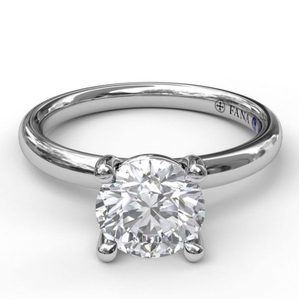 Classic Round Cut Solitaire Engagement Ring Image 3  ,