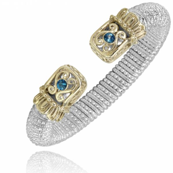 Sterling Silver, 14k Gold, and London Blue Topaz Parris Jewelers Hattiesburg, MS
