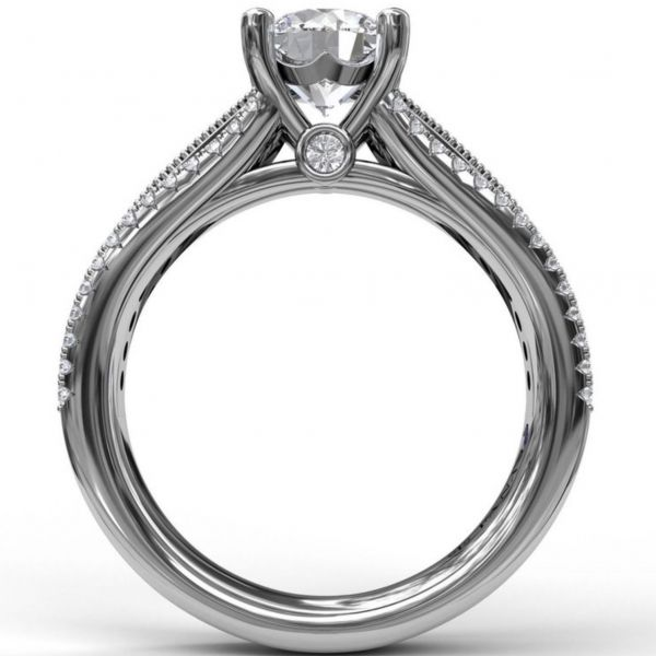 Three Row Stepped Engagement Ring Image 2  ,