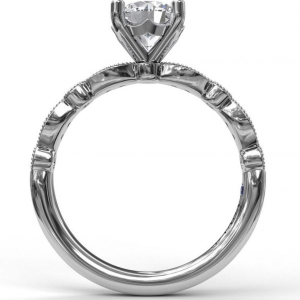 Round Cut Solitaire with Marquise & Round Band Image 2  ,