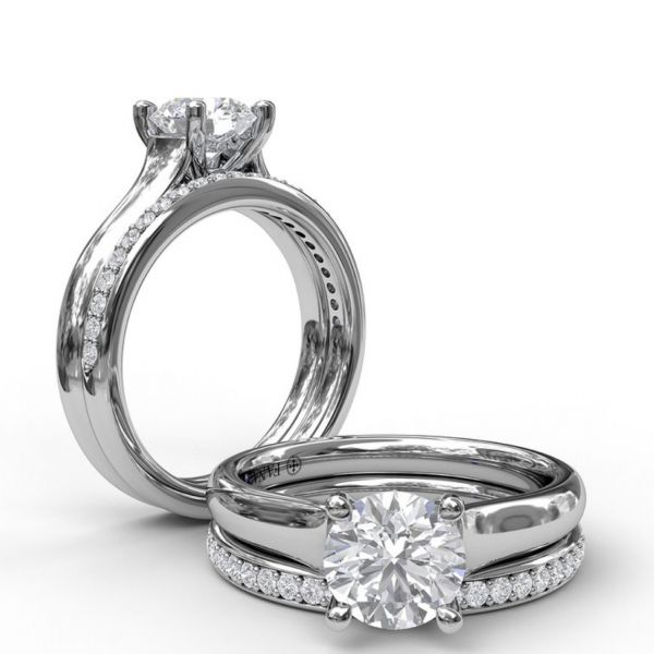 Designer Solitaire Engagement Ring Image 4  ,