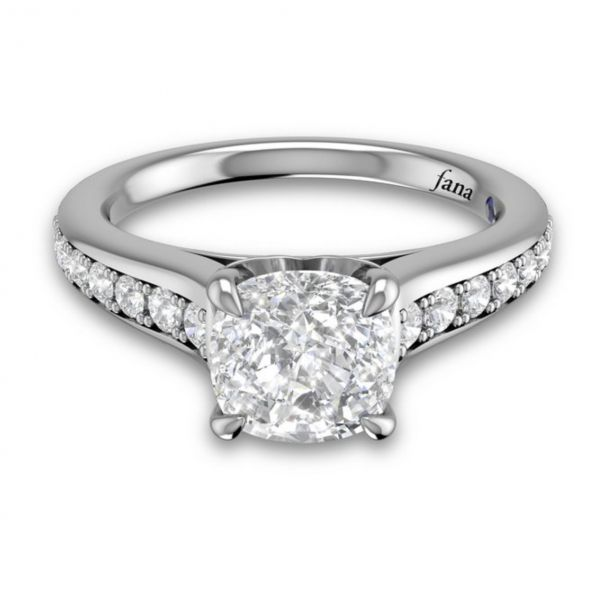 Single Row Cathedral Princess Engagement Ring Image 3 Parris Jewelers Hattiesburg, MS