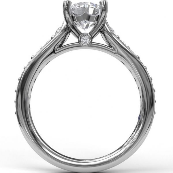 Classic Single Row Diamond Engagement Ring Image 2 Parris Jewelers Hattiesburg, MS