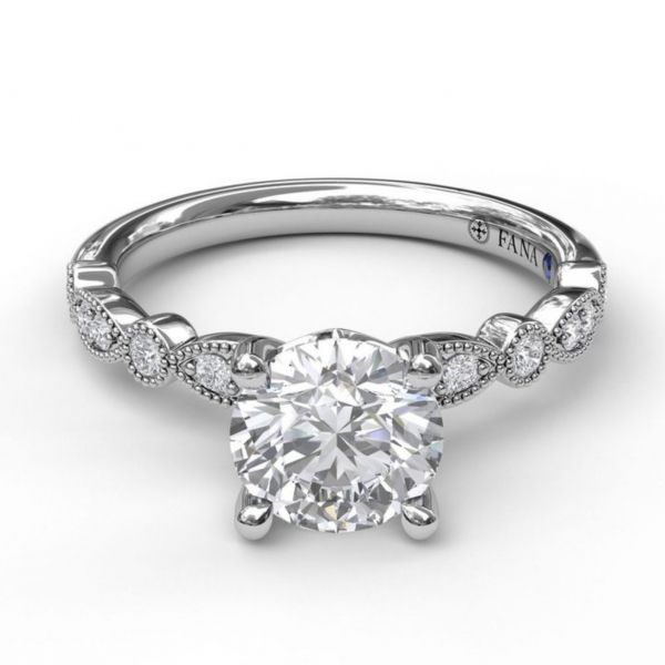 Round Cut Solitaire with Marquise & Round Band Image 3  ,