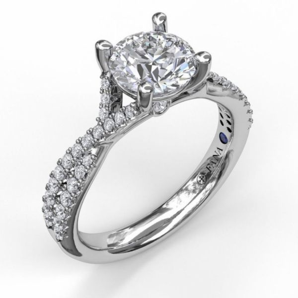 Delicate Late Twist Diamond Engagement Ring Parris Jewelers Hattiesburg, MS