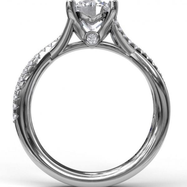 Alternating Diamond Twist Engagement Ring Image 2  ,