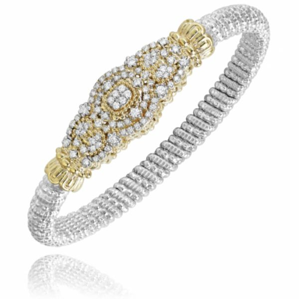 Sterling Silver and 14k Gold Bracelet with Diamonds Parris Jewelers Hattiesburg, MS