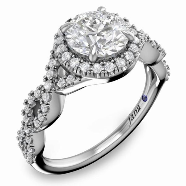 Round Halo with Pave Infinity Engagement Ring Parris Jewelers Hattiesburg, MS