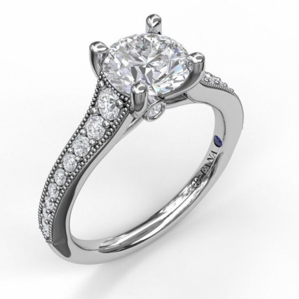 Solitaire with Graduated Diamond Band Parris Jewelers Hattiesburg, MS