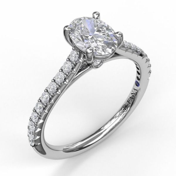 Oval Solitaire in Cathedral Setting Parris Jewelers Hattiesburg, MS