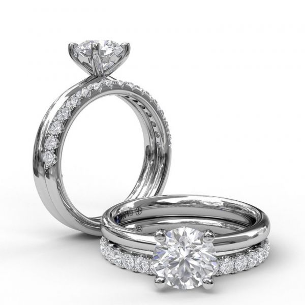 Timeless Round Cut Solitaire Engagement Ring Image 4  ,