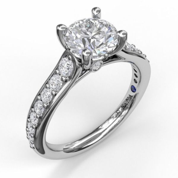 Classic Single Row Diamond Engagement Ring Parris Jewelers Hattiesburg, MS