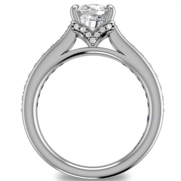 Single Row Cathedral Princess Engagement Ring Image 2 Parris Jewelers Hattiesburg, MS