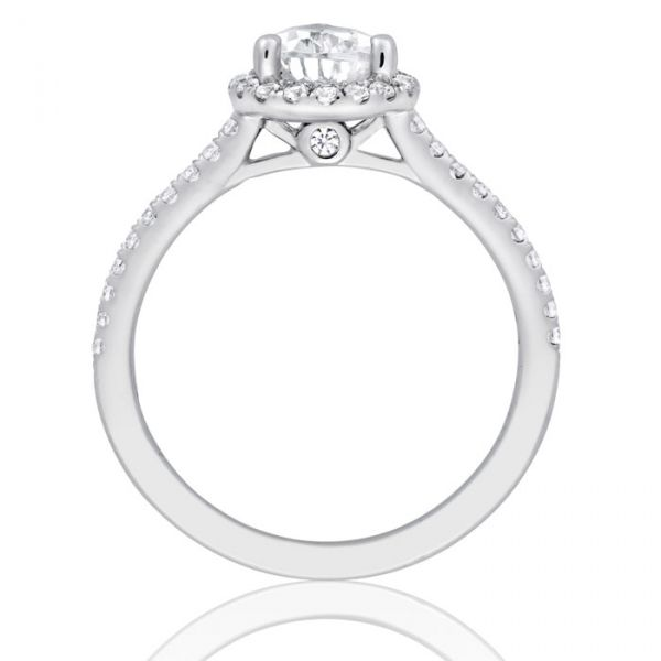 Pear Halo Engagement Ring Image 2  ,