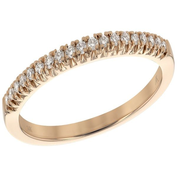 14 kt gold and diamond band Image 2  ,