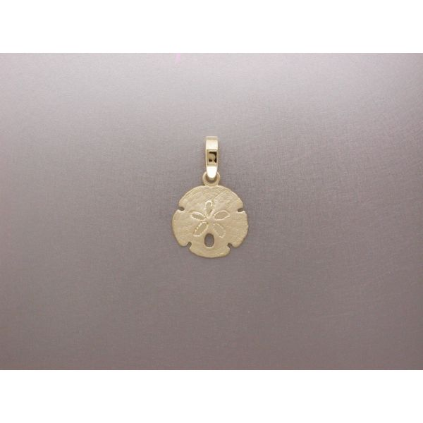 Sand Dollar Pendant 15 mm Plain Bail  William Phelps Custom Jeweler Naples, FL