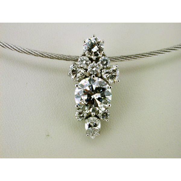 Custom Diamond Cluster Pendant Custom Dia Pend 2 | William