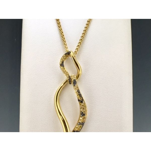 CD Leopard Curved Pendant  William Phelps Custom Jeweler Naples, FL