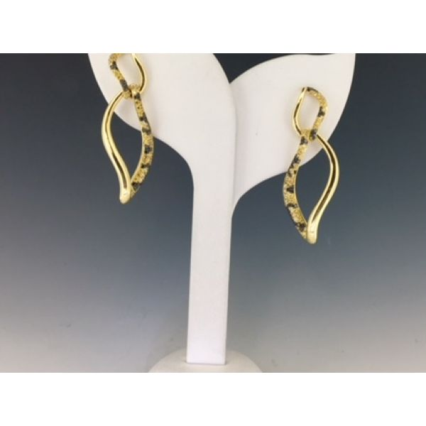 CD Leopard Curved Earrings  William Phelps Custom Jeweler Naples, FL