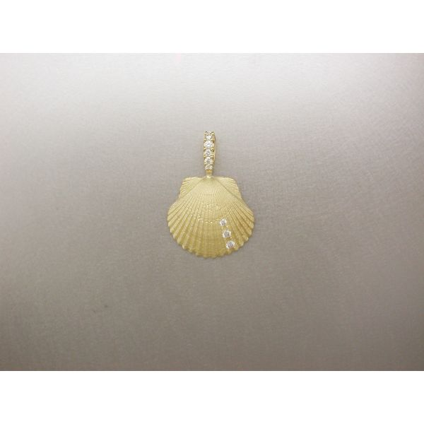 Scallop Shell Pendant SM 3 Dia and DB William Phelps Custom Jeweler Naples, FL