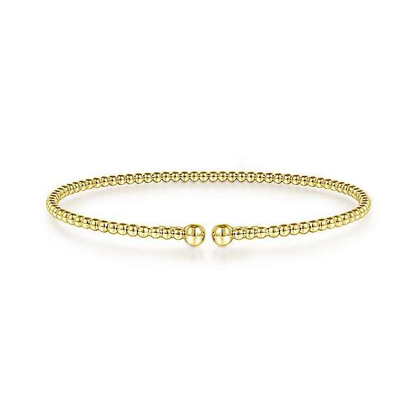 Yellow Gold Beaded Bangle Polly's Fine Jewelry N. Charleston, SC