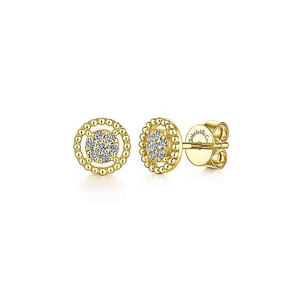 Pave Diamond Fancy Studs Polly's Fine Jewelry N. Charleston, SC