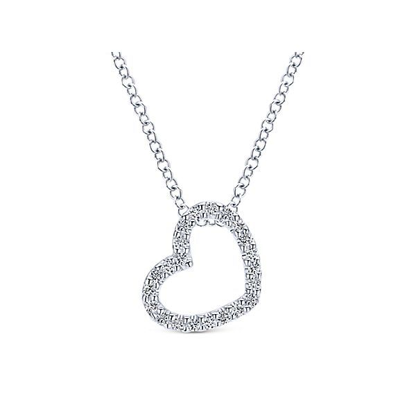 Diamond Open Heart Necklace Polly's Fine Jewelry N. Charleston, SC