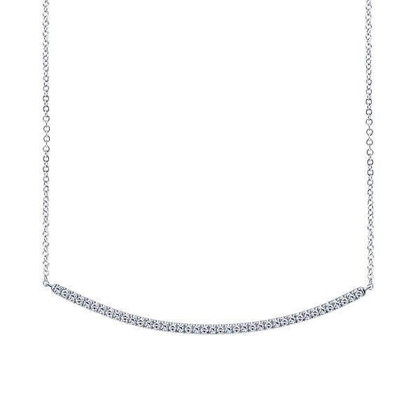 White Gold Diamond Bar Necklace Polly's Fine Jewelry N. Charleston, SC