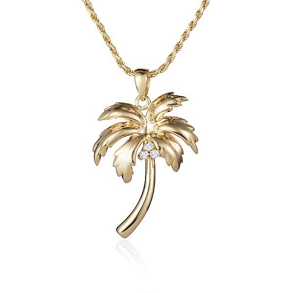 "16"" Small Palm Tree Pendant  Polly's Fine Jewelry N. Charleston, SC"