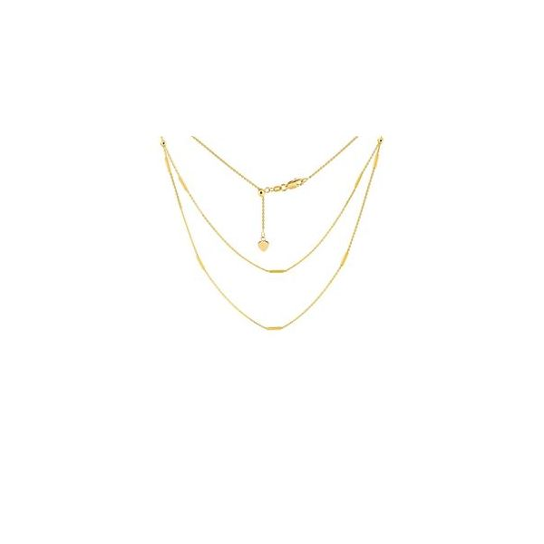 Yellow Gold Double Strand Choker Polly's Fine Jewelry N. Charleston, SC