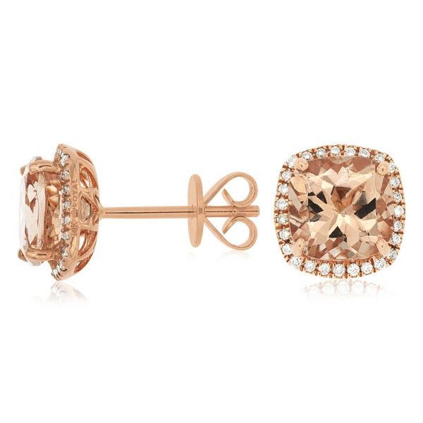 Rose Gold Morganite Studs Polly's Fine Jewelry N. Charleston, SC
