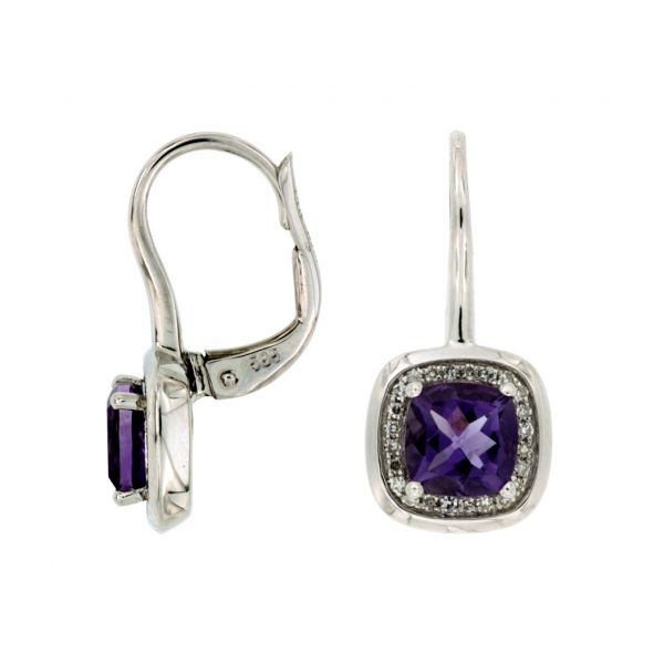 White Gold Amethyst Earrings Polly's Fine Jewelry N. Charleston, SC