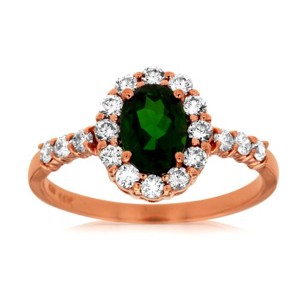 Rose Gold Chrome Diopside Ring Polly's Fine Jewelry N. Charleston, SC