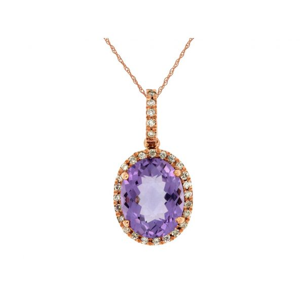 Rose Gold Amethyst Necklace Polly's Fine Jewelry N. Charleston, SC