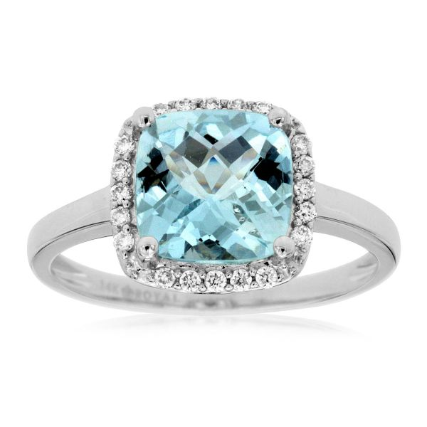 White Gold Aquamarine Ring Polly's Fine Jewelry N. Charleston, SC