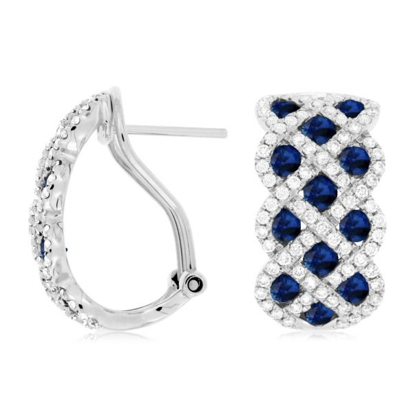White Gold Sapphire & Diamond Earrings Polly's Fine Jewelry N. Charleston, SC