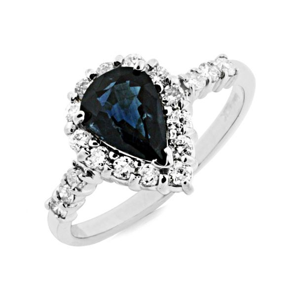 White Gold Sapphire & Diamond Ring Polly's Fine Jewelry N. Charleston, SC