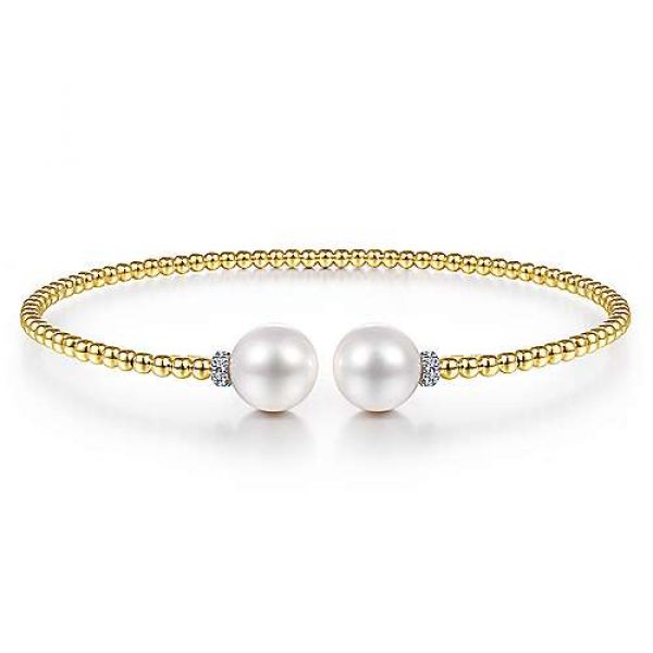 Yellow Gold Beaded Pearl Cuff Polly's Fine Jewelry N. Charleston, SC