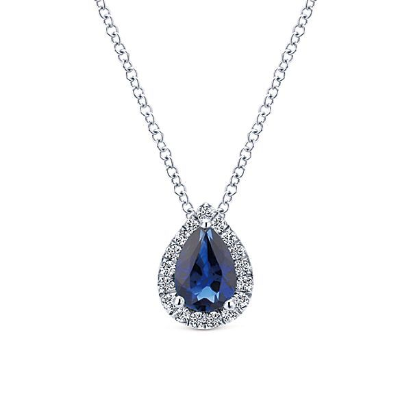 White Gold Sapphire Necklace Polly's Fine Jewelry N. Charleston, SC