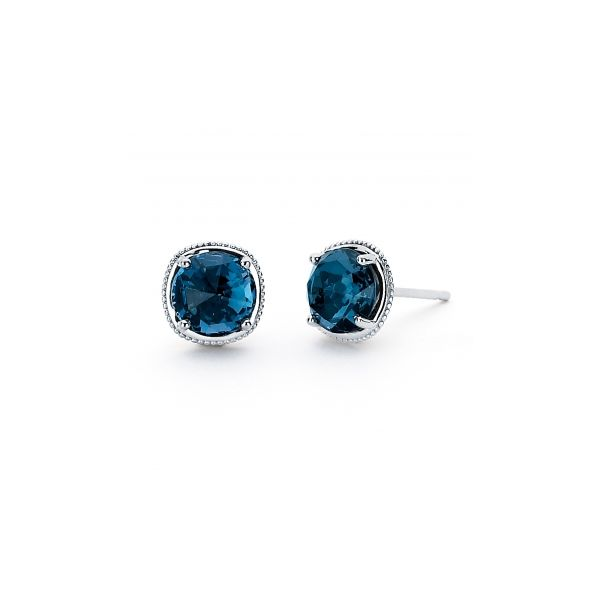 London Blue Topaz Studs Polly's Fine Jewelry N. Charleston, SC