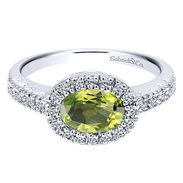 White Gold Peridot Ring Polly's Fine Jewelry N. Charleston, SC