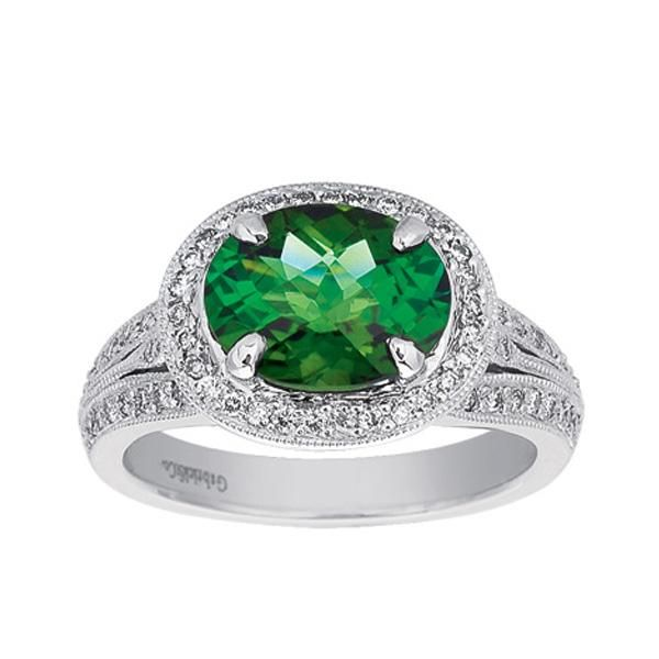 White Gold Green Tourmaline Ring Polly's Fine Jewelry N. Charleston, SC