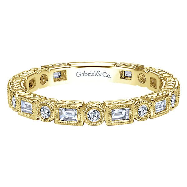 Yellow Gold Diamond Stackable Polly's Fine Jewelry N. Charleston, SC