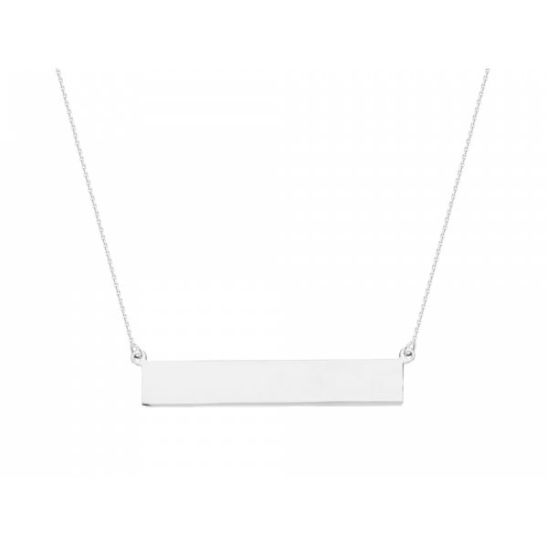 14 kt. White Gold Bar Necklace Polly's Fine Jewelry N. Charleston, SC