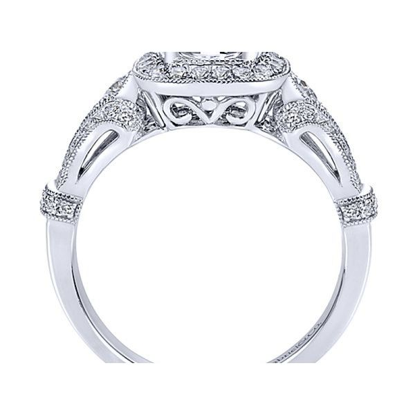 Gabriel Diamond Halo Ring Mounting Image 2 Polly's Fine Jewelry N. Charleston, SC