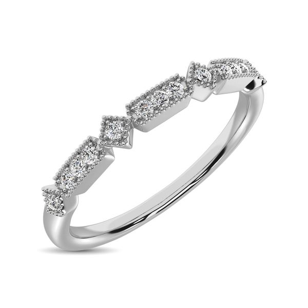 14K WHITE GOLD .06ctw DIAMOND STACKABLE BAND Robert Irwin Jewelers Memphis, TN