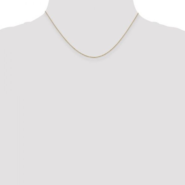 14k Yellow Gold .5mm Box Chain Image 2 Robert Irwin Jewelers Memphis, TN