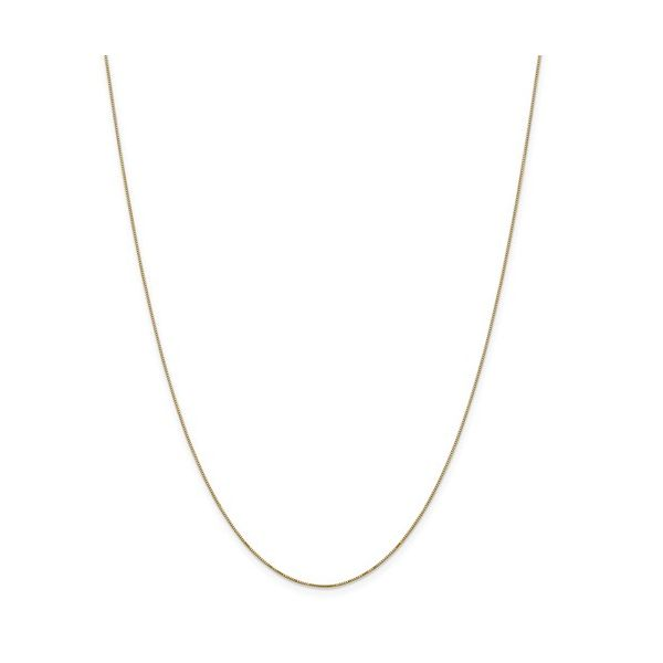 14k Yellow Gold .5mm Box Chain Robert Irwin Jewelers Memphis, TN